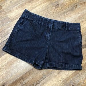 LOFT blue jean riviera shorts size 8